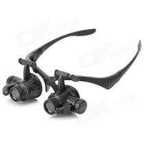 Lupa De Cabeça / Pala Profissional 2leds 4 Lentes Oculos Rel