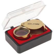Mini Lupa Joalheiro 30x 21mm Triplet Vidro Óptico Em Estoque