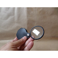 Monóculo Lupa Bolso Lente 5x Vidro Capa Giratoria Alta Quald