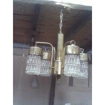 Lustre Antigo Anos 70 Bico De Jaca 5 Lampada