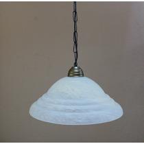 Plafon Com Cupula Murano Branco Com Ambar