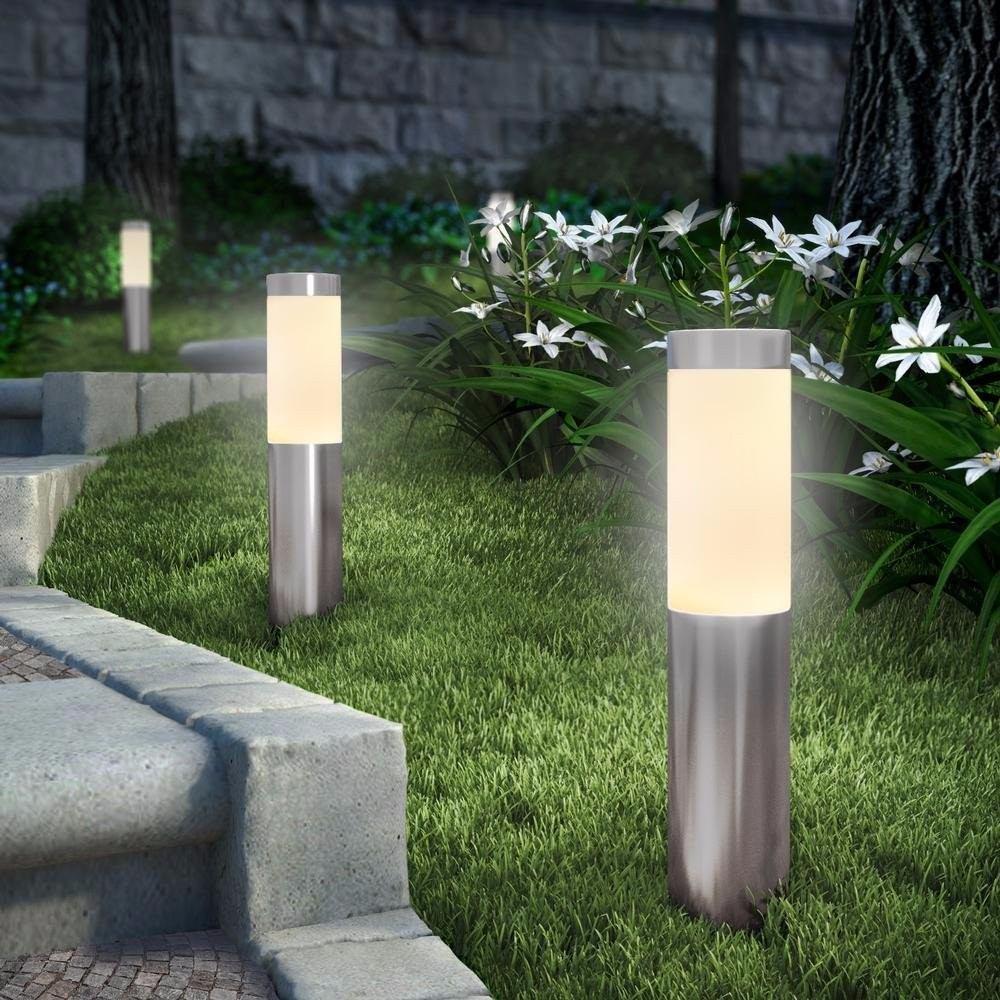 iluminacao de jardim energia solarLuz De Jardim Led De Aço