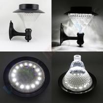Luminária Solar Para Parede 16 Leds - Acrílico - Branco Frio