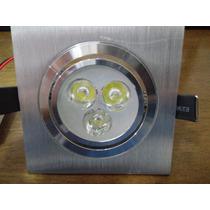 Lâmpada Super Led 3w Biv.direc.spo.quadrado Aluminio B.frio
