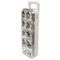 Kit C/ 10 Luminária Luz De Emergencia C/ 10 Super Leds Smd