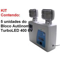 Kit Com 5 Blocos Autônomos Turboled 400 6vcc.