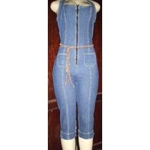 Macacao Jeans Feminino Corsario Strech Tamanho 42