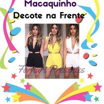 Macaquinho Feminino Viscolycra Nó Promoção Produto Novo