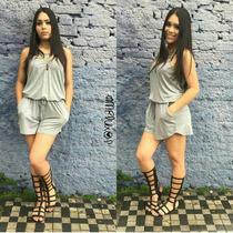 Macaquinho Viscolycra Moda Blogueira Alça Verão Juju
