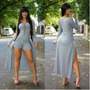 Macaquinho Feminino Modelo Vestido Longo C Fenda
