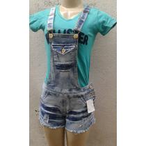 Jardineira Jeans Com Lycra A Preço De Fabrica