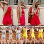 Macacão Curtinho Feminino Moda Verão Pronta Entrega Decote