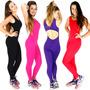Macacão Longo Feminino Suplex Fitness Academia E Ginastica