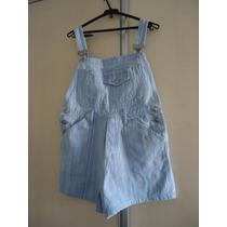 Jardineira Shorts Jeans Dzarm 36/38 Usada