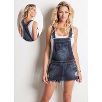 Jardineira Tipo Short Saia Jeans Disponíveis Tam 36 Ao 46!!!
