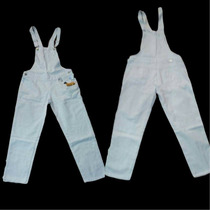 Macacão Sawary Jeans Branco Ref 236898