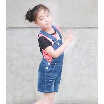 Jardineira Jeans Com Camiseta Minnie - Infantil