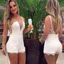 Macacão Macaquinho Feminino Renda E Tule - Promoção
