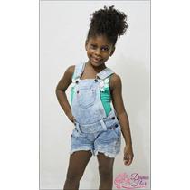 Jardineira Macacão Jeans Infantil - Promoção