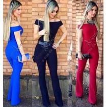 Macacão Feminino Temos C/renda,curto,longo,jeans,branco,pret