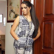 Macacão Longo Estampado Indiano Feminino Direto Da Fábrica