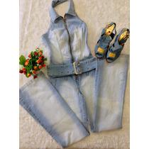 Macacao Frente Unica Jeans 36