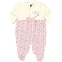 Macacão Para Bebê Infantil Menina Suedine Rosa - Tip Top