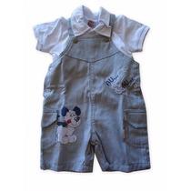 Jardineira Com Camisa Polo Bebê Menino Ki-baby Kb381