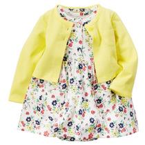 Vestido Infantil Fem Com Cardigan Carters