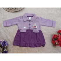 Vestido Infantil Bebê Feminino Menina C/ Mangas