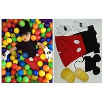 Fantasia Mickey Infantil Completa Carnaval Pronta Entrega