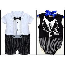 Kit 2 Body Macacão Infantil Terninho Social Bebê Aniversário