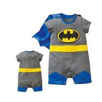 Macacão Fantasia Superman Ou Batman Bebê