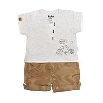 Macacão Camiseta E Short Cargo - Keko Baby