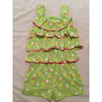 Macacao Infantil Feminino Vestidos Saias Conjuntos 2 Anos