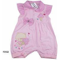 Macacão Infantil Bebe Feminino Rosa Original Sininho Baby
