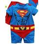 Body Fantasia Super Homem- Manga Curta - Bebê