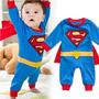 Pronta Entrega! Fantasia Para Bebê Super Homem Tipo Macacão