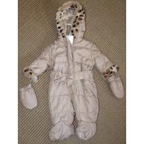 Macacão Oncinha Acolchoado Forro Fleece C/luva Rn 3,6/4,5kg