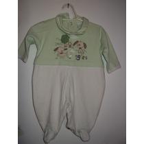 Macacão De Bebê Baby Fashion Verde E Bege P - Brechó