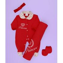 Kit Saída De Maternidade Princesa Vermelho - Frete Grátis