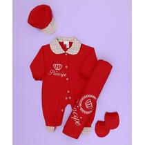 Kit Saída De Maternidade Príncipe Vermelho - Frete Grátis