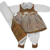 3406 - Saída De Maternidade Oncinha Beth Bebê