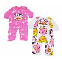 Kit De Macacão Bichinhos Macacão Bebê Get Baby Gb411003
