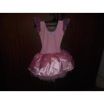 Roupa Menina 3/4 Anos Fantasia Bailarina Manchinha No Peito