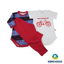 Kit C/3 Conj Body Baby Kero Kollo Luxo 100%algodão Pettenati