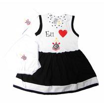 Conjunto Vestido Do Corinthians De À 18 Meses (meninas)