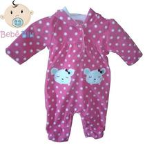 Macacão Bebê Carters Menina Recém Nascido Enxoval Fleece