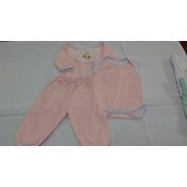 Conj Pagão C/ Body 3pçs - Bebê (várias Cores) 0 A 3 Meses