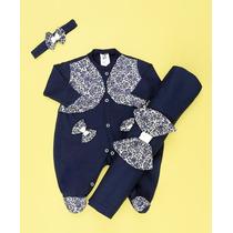 Saída De Maternidade Primavera Azul-bebê Menina-frete Grátis